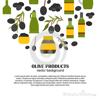 Free Vector Cartoon Flat Olive Oil Background Stock Photography - 71059552