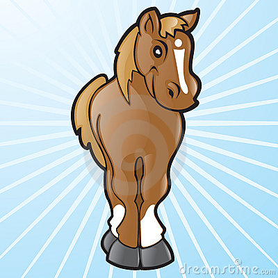Vector Cartoon Horse