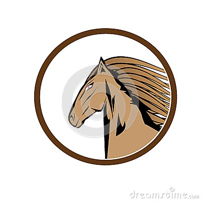 Vector cartoon horse head.