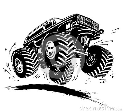 Cartoon Monster Truck Stock Photo Image 29933560