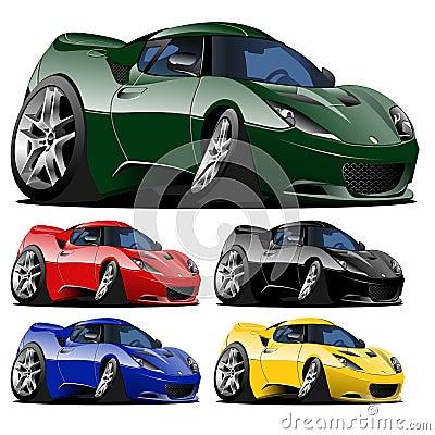 Vector cartoon muscle car