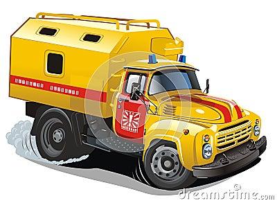 Vector cartoon repair truck