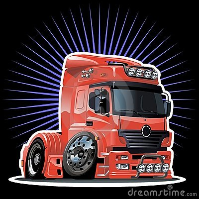 Free Vector Cartoon Semi-truck Royalty Free Stock Image - 16191936