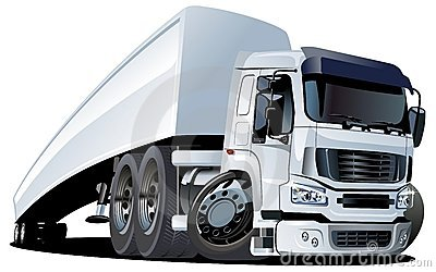 Vector cartoon semi truck one click repaint