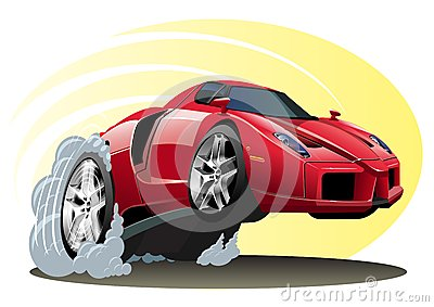 Vector Cartoon Sportcar Editorial Photography