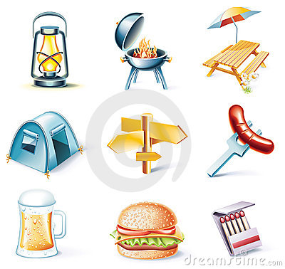 Free Vector Cartoon Style Icon Set. Part 15. Traveling Stock Images - 11078144