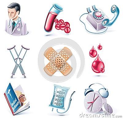 Free Vector Cartoon Style Icon Set. Part 28. Medicine Stock Photos - 11498693