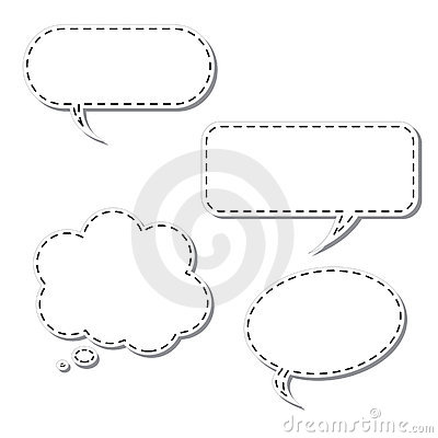 Free Vector Cartoon Thought Bubble Stock Images - 19649384