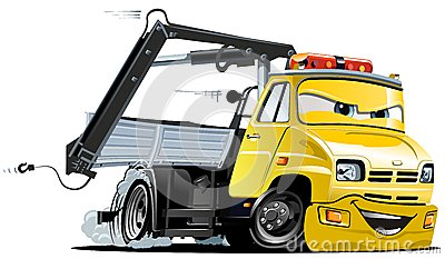 Vector Cartoon Tow Truck