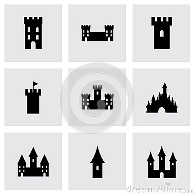 Free Vector Castle Icon Set Stock Photography - 51232932
