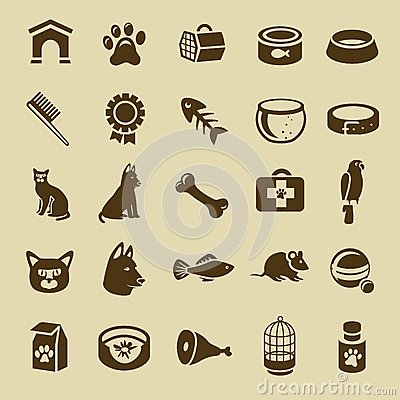 Free Vector Cats And Dogs Royalty Free Stock Image - 26929796