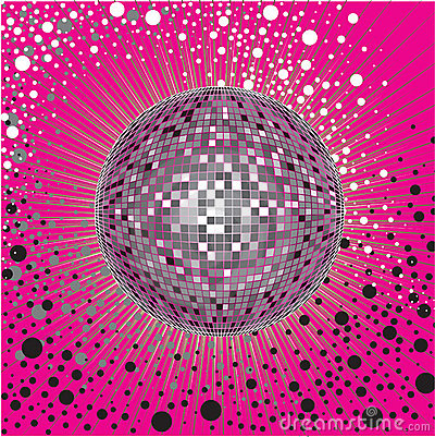 Free Vector CD Cover Design With Disco-ball Royalty Free Stock Images - 10814089