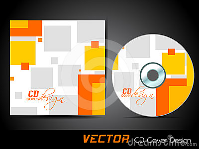 Vector CD cover in orange and yellow color