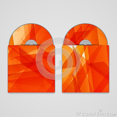 Vector cd cover set for your design, abstract