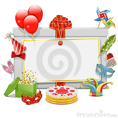 Free Vector Celebration Board Royalty Free Stock Photography - 39809887