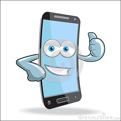 Free Vector Cell Mobile Mascot Stock Photography - 34059122