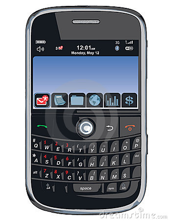 Vector cell phone / PDA / Blackberry Editorial Image