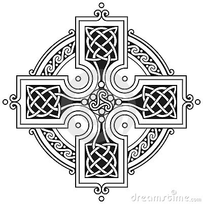 Free Vector Celtic Cross Traditional Ornament Royalty Free Stock Photos - 17598448