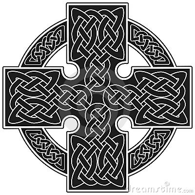 Vector celtic cross traditional sign