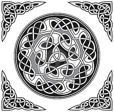 Vector celtic design element