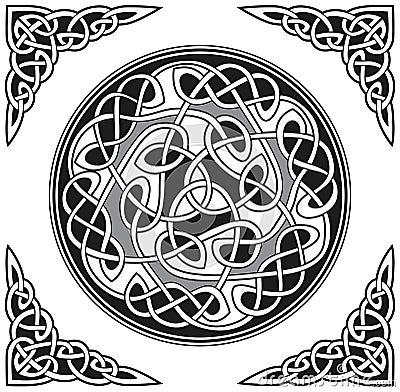Vector celtic design element