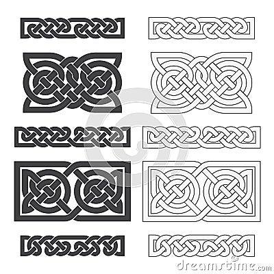 Vector celtic horizontal knot. Ethnic ornament Vector Illustration