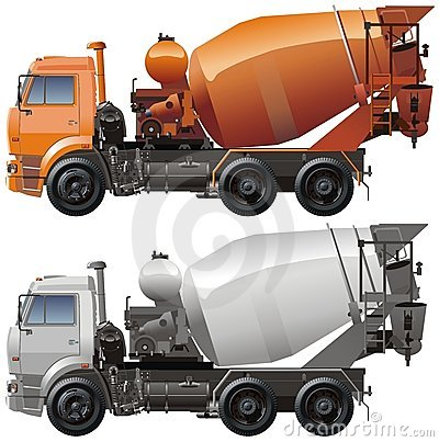 Free Vector Cement Truck Stock Photo - 6927350