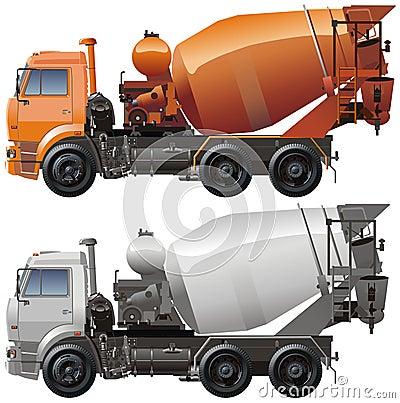 Vector cement truck