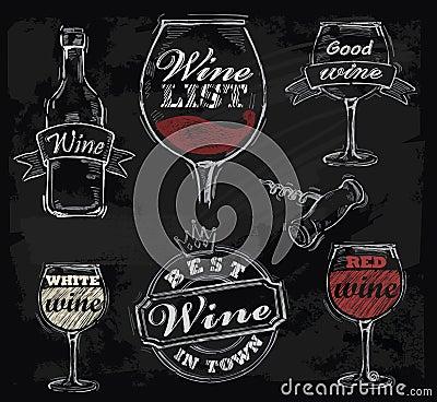 Free Vector Chalk Wine Royalty Free Stock Photo - 34394695