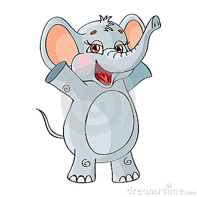 Vector character. Elephant. On a white background.