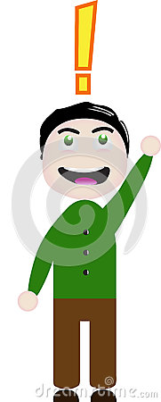 Vector character exclamation point