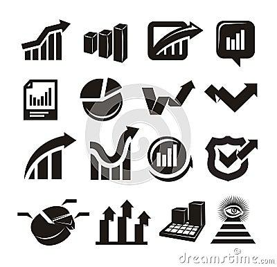 Vector charts icons set