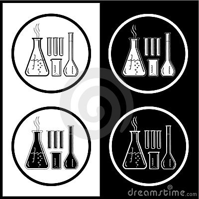 Vector chemical test tubes icons