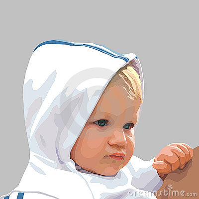 Vector child on gray background