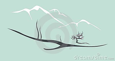 Vector chinese landscape