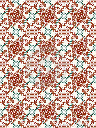 Vector chinese traditional meshed pattern - symbol