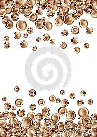 Vector chocolate circle