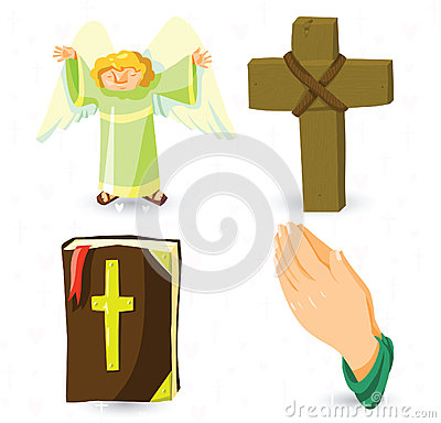 Free Vector Christian Symbols Stock Photography - 26249552