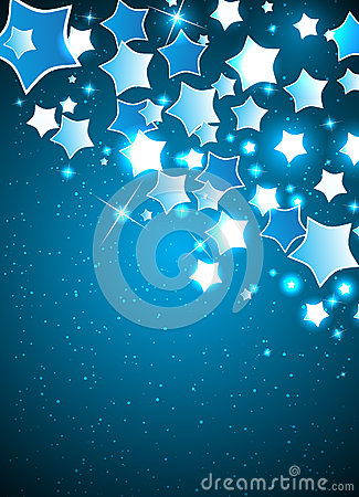 Vector Christmas Background with Stylized Star