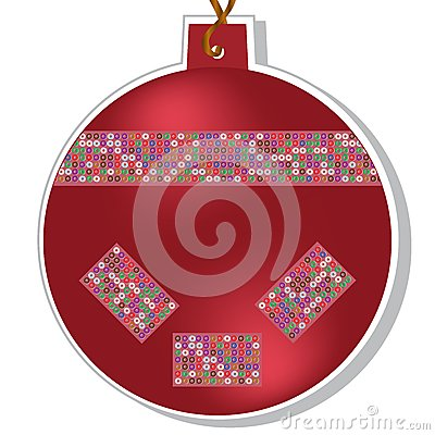 Vector christmas ball with beads