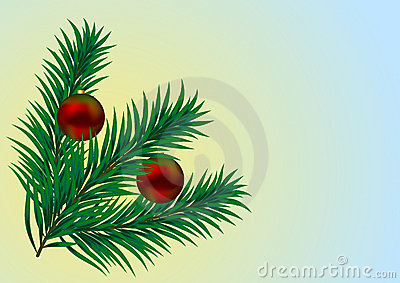 Vector. Christmas Branch