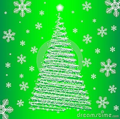 Vector christmas fur-tree.