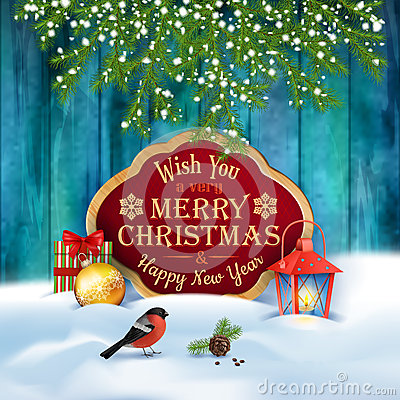 Free Vector Christmas Greeting Card Stock Images - 63091014