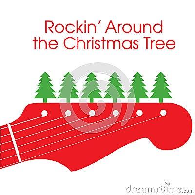 Vector Christmas Guitar