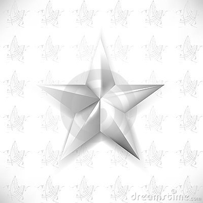 Vector chrome star element background