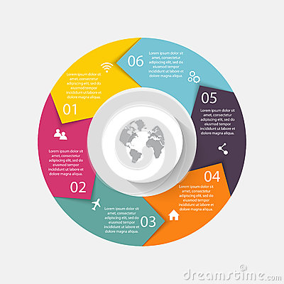 Vector circle arrows for infographic.Can be used for info graphi Vector Illustration