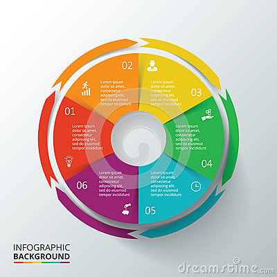 Free Vector Circle Infographic. Stock Photo - 56594960