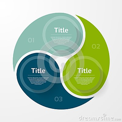 Vector circle infographic. Template for diagram, graph, presentation and chart. Business concept with three options, parts, steps Vector Illustration