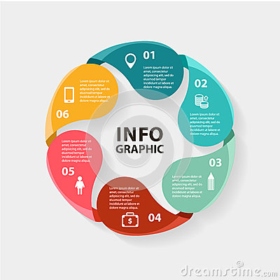 Free Vector Circle Infographics. Template For Diagram Royalty Free Stock Image - 49925966