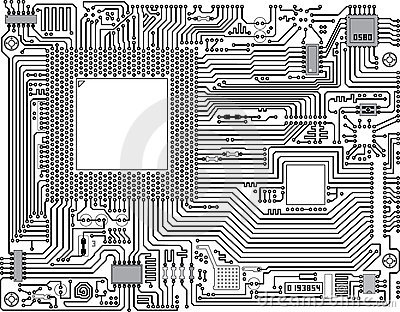 Vector circuit board - industrial background